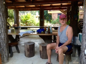 At our B&B waiting for a for Tuk-tuk
