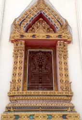 Ornate temple window