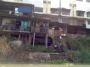 Typical riverside housing