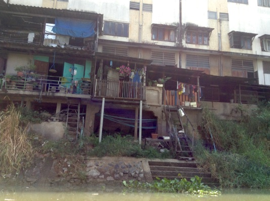 Typical riverside housing