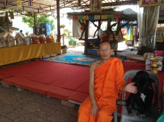 "Monk at ""working temple"""