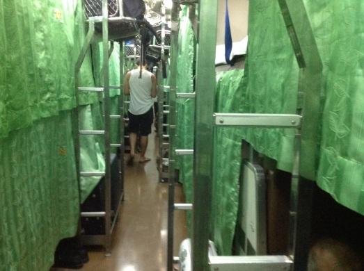 Sleepy train from Bangkok