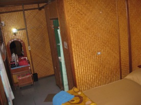 Authentic bamboo walls!