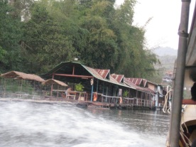 Floating raft homestay