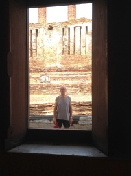Through the temple window