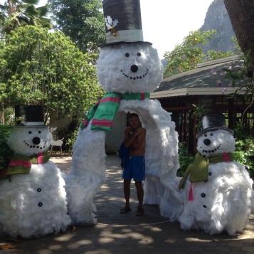Yes, snowmen even in Thailand!!!