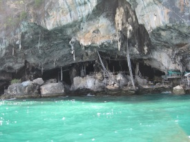 Bird nest cave site
