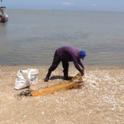Fishing near Batu Ferringhi beach