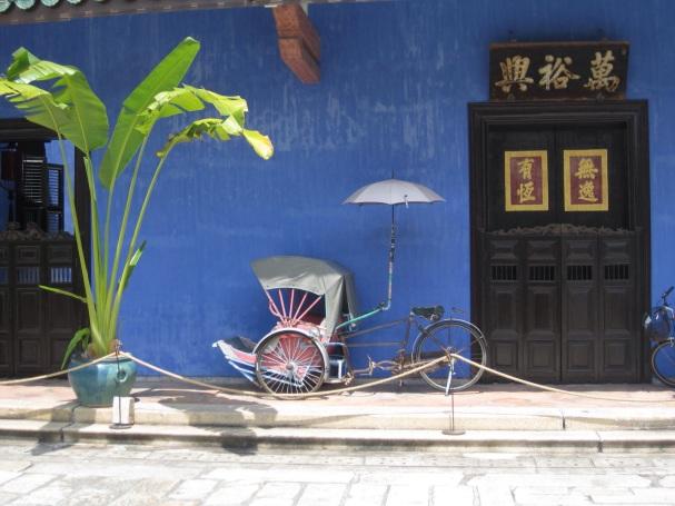 Blue Mansion rickshaw