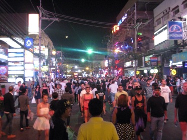 Patong walking street.
