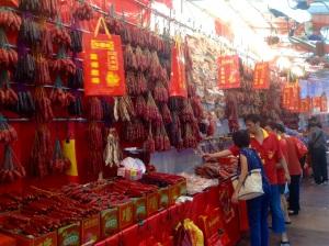 China Town sausage vendor