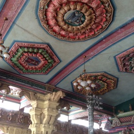 Ceiling reliefs at Hindu Temple