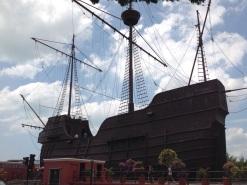 Flor de la Mar Dutch ship replica at Marine Museum