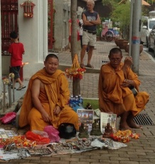 Monks at work