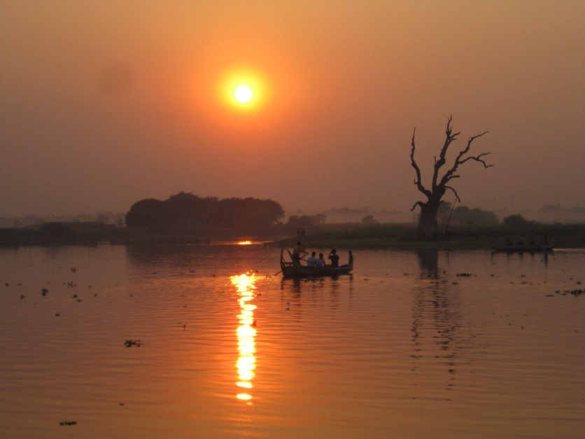 Sunset at U Bein Bridge, Amarapura