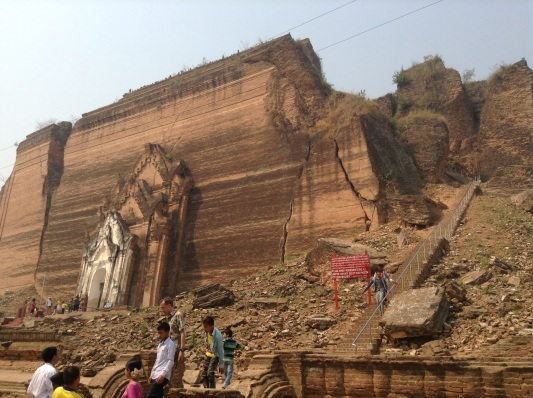 Mingum Pagoda-we climbed the stairs to the top
