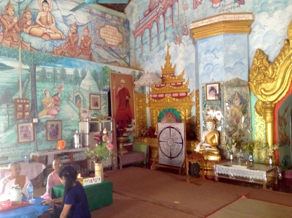 Wall paintings Me Nu Ok Kyaung monastery