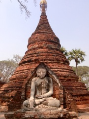 At Yadana pagoda-Inwa