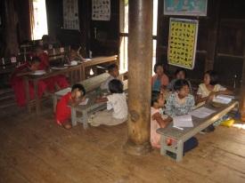 Bagaya Monastery school kids