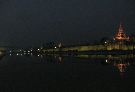 Fort Mandalay moat, wall & towers