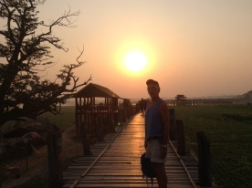 Sunset U Bein bridge