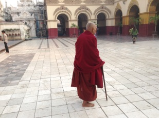 Elderly monk we had a nice chat with