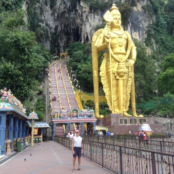 Murga statue at entrance stairs to Batu Cave