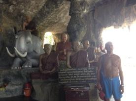 Had Khao Tao temple cave monks photobombed by Bob