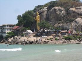 Lord Buddha statue, Hua Hin Beach-south end (Monkey Mountain)