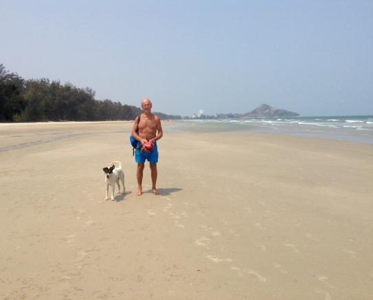 Bob's new beach buddy