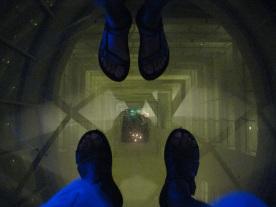 Glass floor-It's a long way down