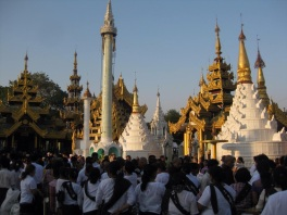 Inside Shwedagon Pagoda