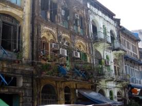 Yangon colonial building relic