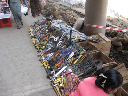 Tools at street market