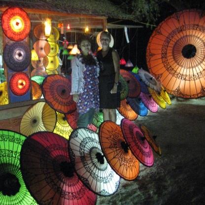 Burmese traditional umbrella shop