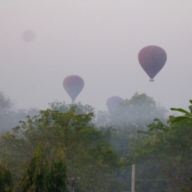 Balloons over Bagan at dawn