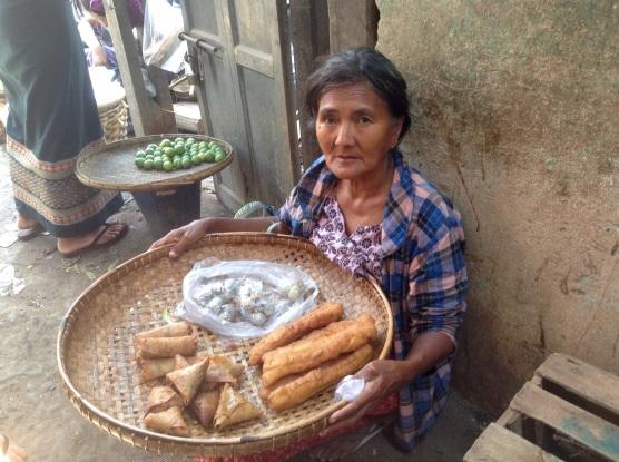Market women with donut