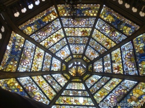 Stained glass ceiling, Marriage Pavilion