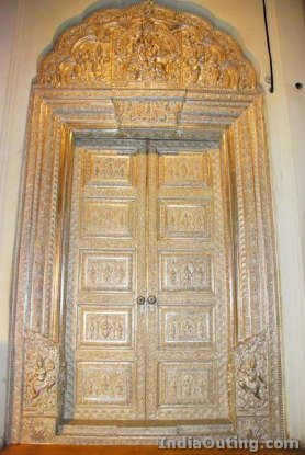 Gold carved door