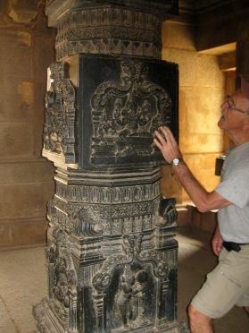 Hazaarama Temple black granite column