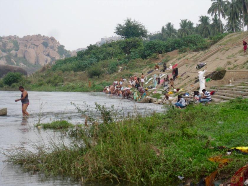 Hampi Bazaar River edge
