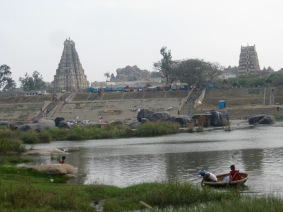 View from Virupapur Gaddi (across the river from Hampi Bazaar)