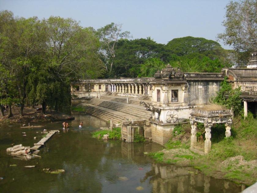 Ghat & sacred river,, Srirangapatnum