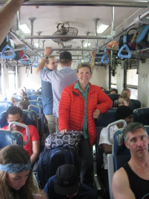 Train ride to Haputale - standing g room only
