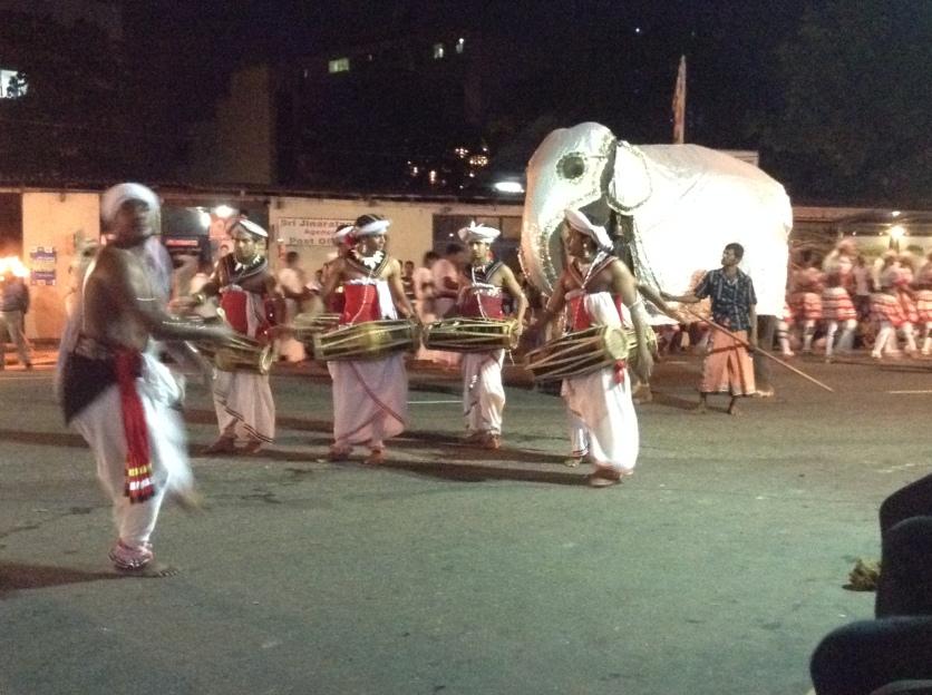 Drummers & elephant