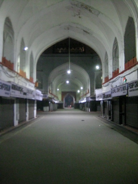 Inside Red Fort at night
