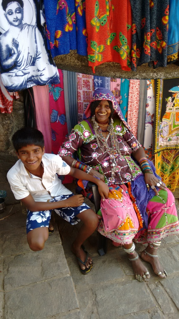 Indian tribe shop keeper & son