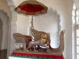 Howdah elephant seat for the Maharajah & his guard