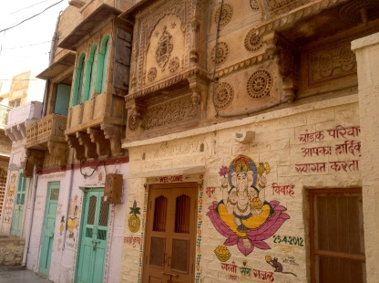 Ganesh is painted on almost every home