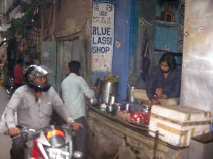The iconic Blue Lassi Shop